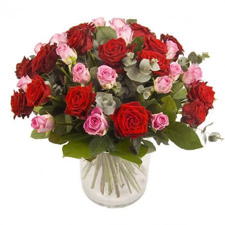 Roze en rode rozen